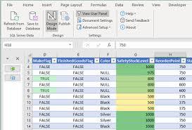 SQL Spreads Colour Formatting